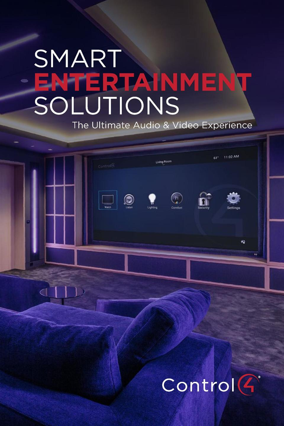 SMART ENTERTAINMENT SOLUTIONS  The Ultimate Audio   Video Experience
